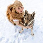 Shooting mit Wolfshund