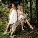 Wolfshund Shooting im Thüringer Wald