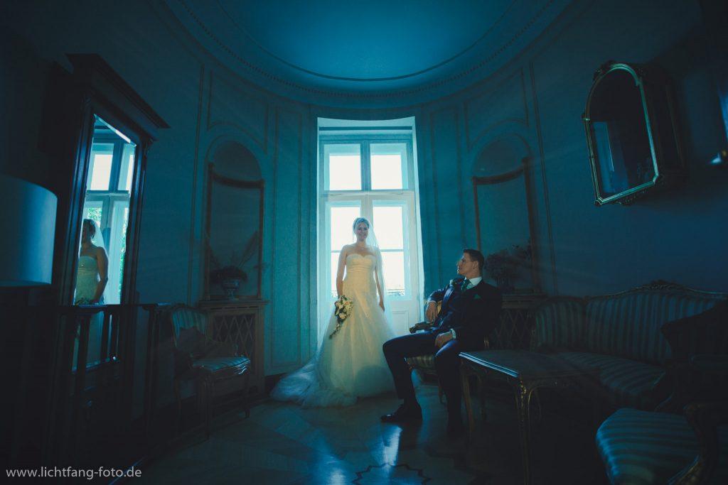 Hochzeitsfoto in der Villa Altenburg