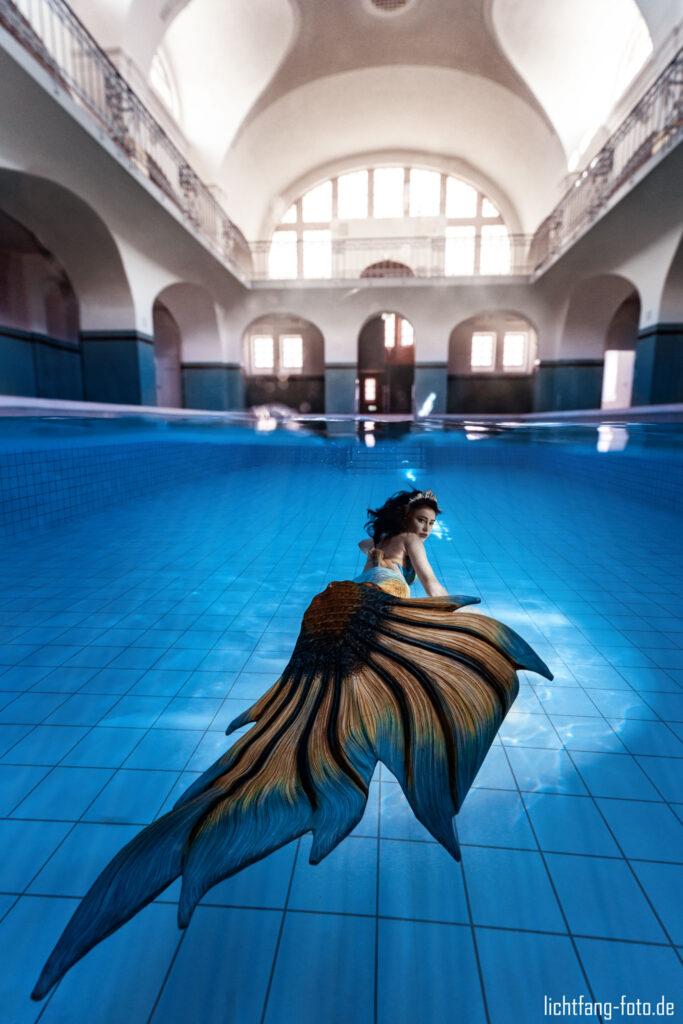 Meerjungfrau im Jugendstilbad Gotha